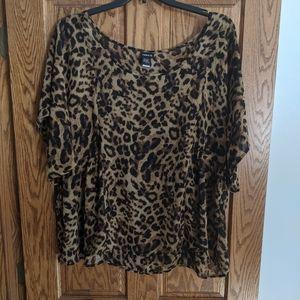 Plus leopard print top